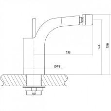 Смеситель для биде Cersanit Luvio S951- 017